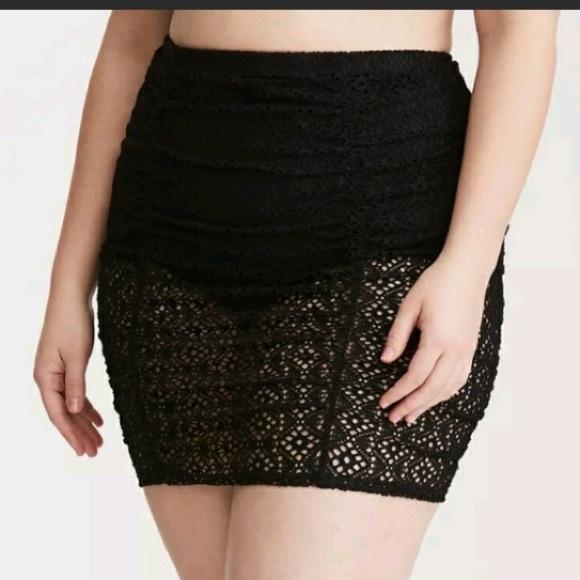 baf440c5d5277 torrid Swim   Crochet Ruched High Waist Skirt 1x   Poshmark